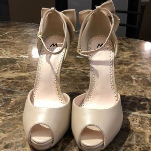 """9a69e7df937 Shoe Dazzle Shoes - Madison """"Sharla"""" Bow Heel Ankle Strap Heels."""